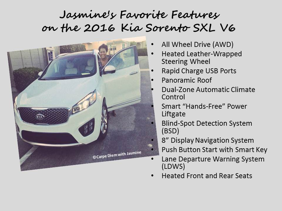 Jasmine's Thoughts on the 2016 Kia Sorento