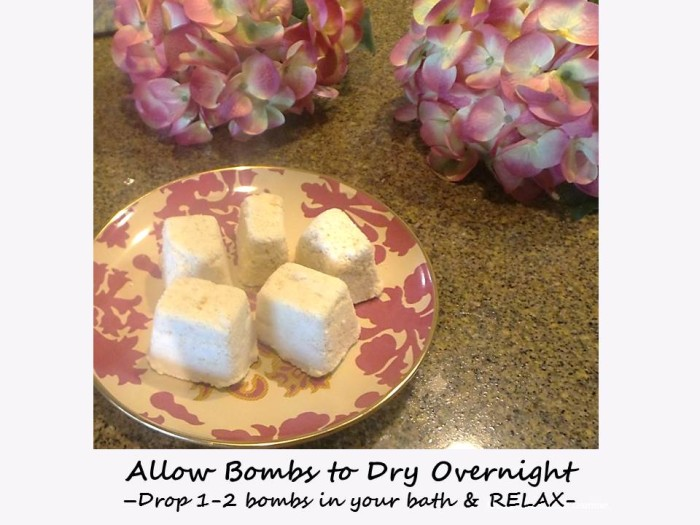 Allow Bombs to Dry Overnight
